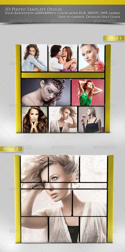 GraphicRiver 3D Photo Template Design Template