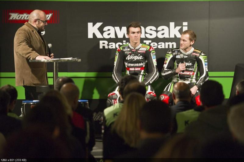 Презентация команды Kawasaki WSBK