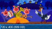 """Маша и медведь. Машины сказки. Выпуск 3. """"Три поросенка"""" (2012) DVD5+DVDRip"""